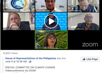 Members-in-Action – Living Laodato Si on Philippine Congress Special Committee on Climate Change