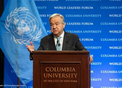 António Guterres: 50% of all Climate Finance Needed for Adaptation
